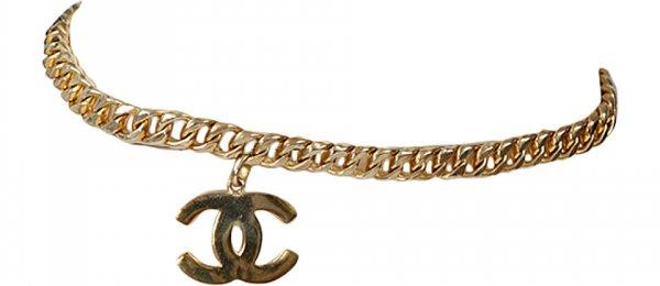 Chanel Goldtone Link Chain Belt