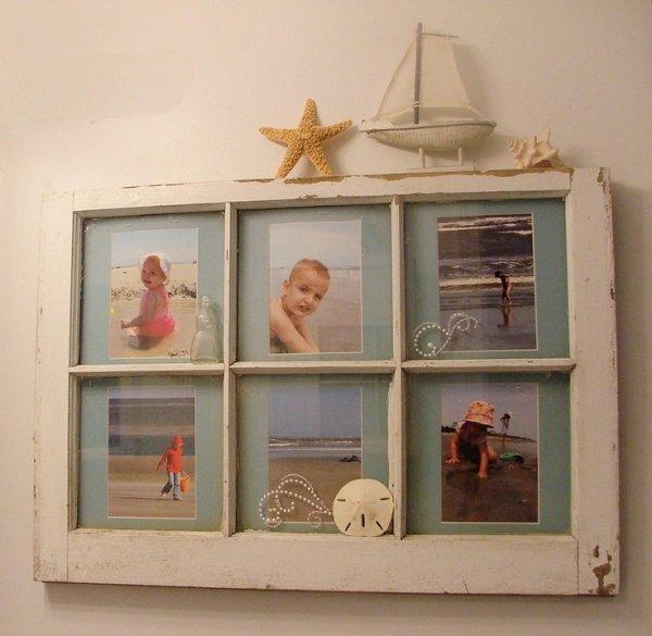 Old Window Frame 32 Seaworthy Beach Themed Bathrooms You
