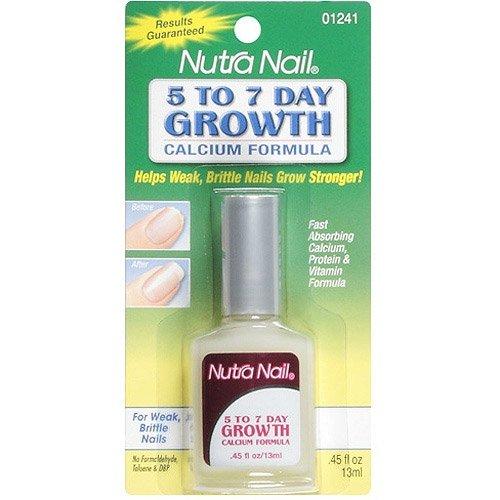 Nutra Nail 5-to-7 Day Nail Growth, Calcium Formula