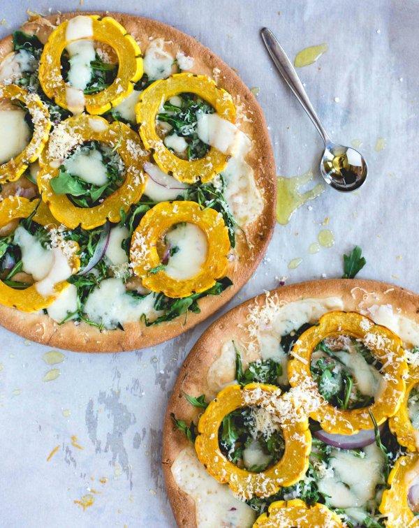 Winter White Pizza with Delicata Squash & Gouda Cheese