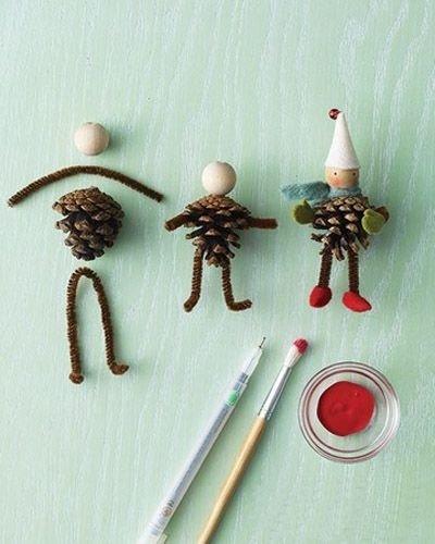 Pine Cone Figures