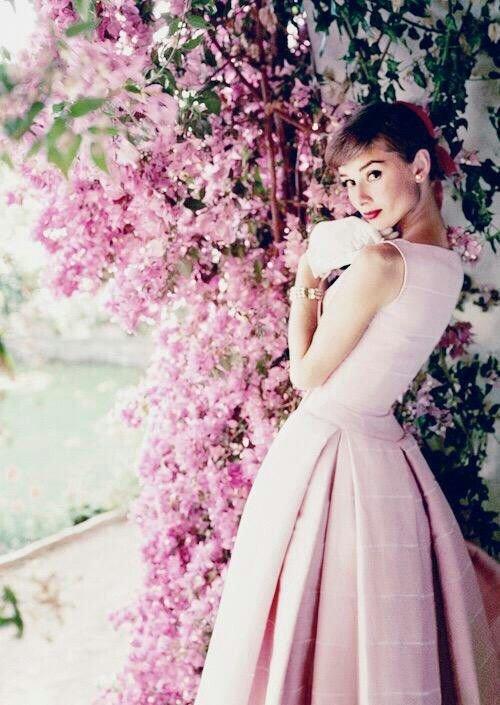 flower, gown, wedding dress, pink, woman,