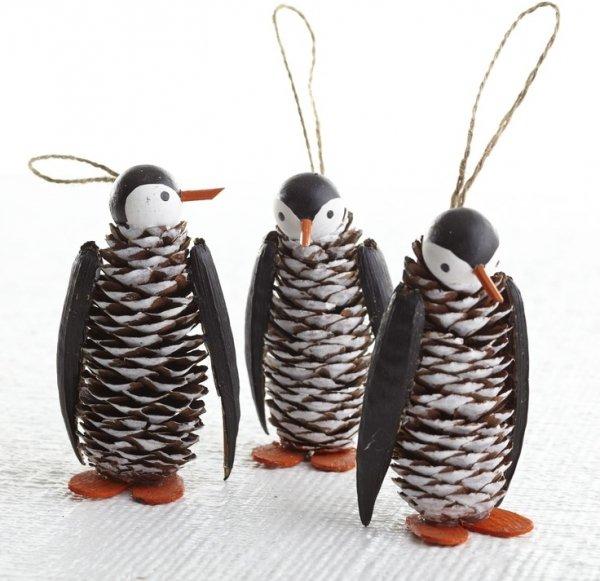 Pine Cone Penguins