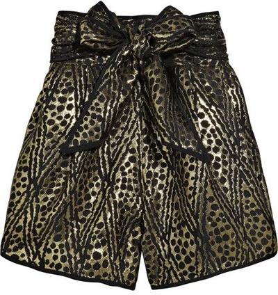 Thread Social Jacquard Bow-Belt Shorts