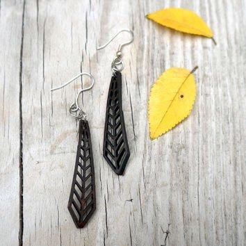 Coconut Leaf Arrow Earrings