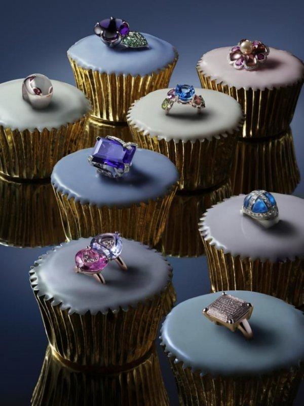 Cake, Cupcake, Fondant, Baking, Purple,