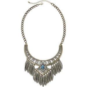 Leafy Fringe Necklace