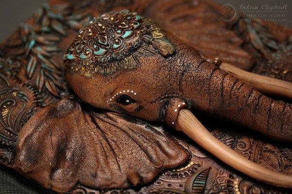 Indian Elephant Detail