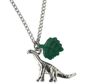 """the Original Vegetarian"" Dinosaur Necklace"