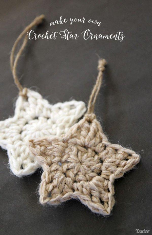 Crochet'd Star Ornaments