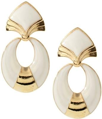 Asos Vintage Style Style Structured Enamel Drop Earrings