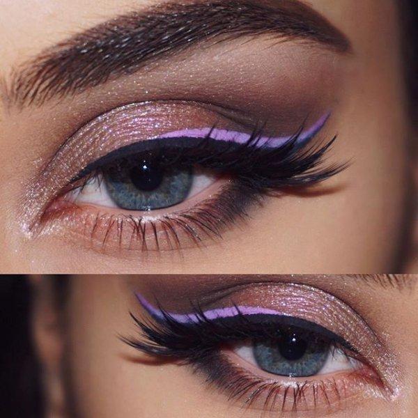eyebrow, color, purple, eye, blue,
