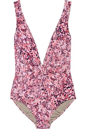 Diane Von Furstenberg Bash Leopard Print Swimsuit