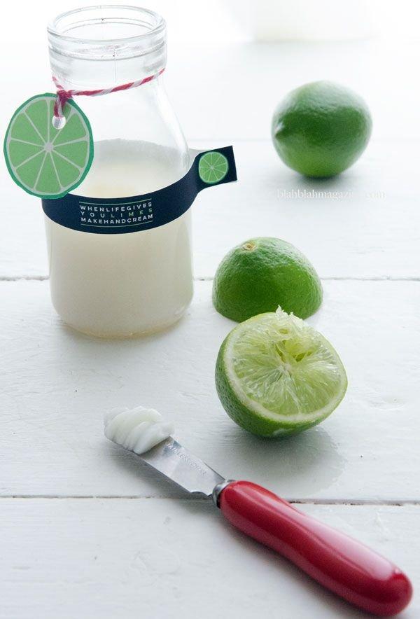Homemade Lime Hand Cream