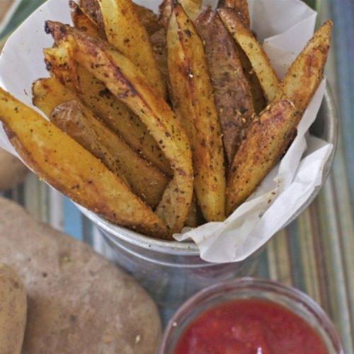Crispy Cajun Oven Baked Fries