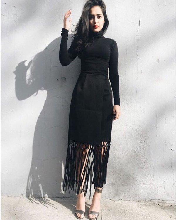 clothing, formal wear, black hair, dress, leather,