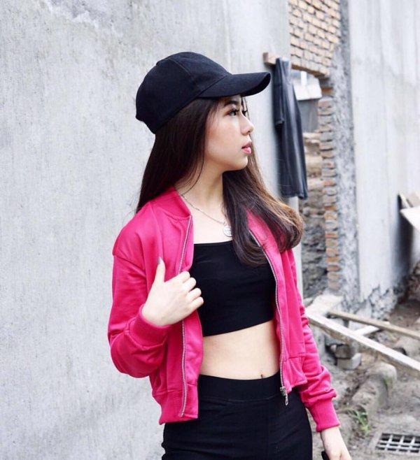 pink, shoulder, outerwear, headgear, textile,