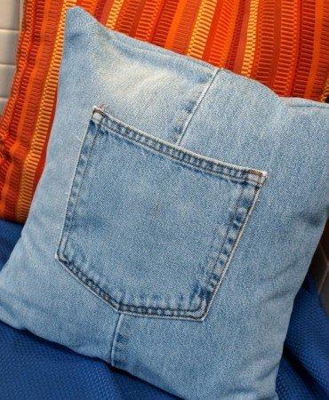 Denim Pillow Cover