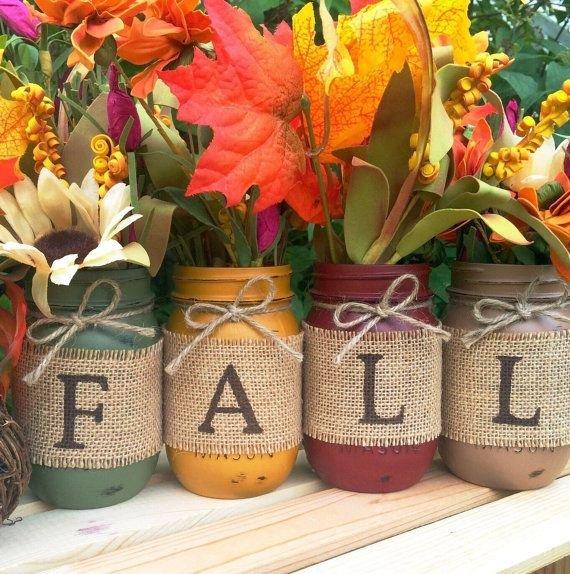 Hand Painted Mason Jars