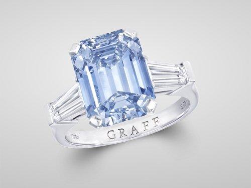 Graff Blue Diamond Ring