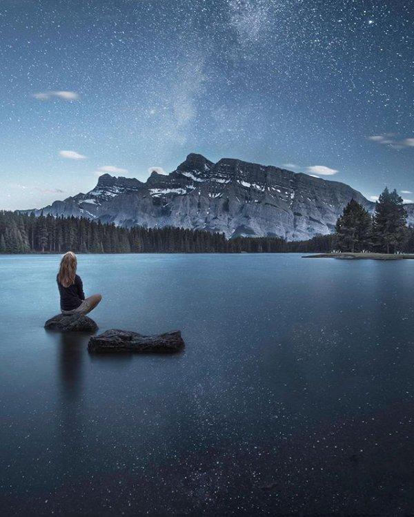 sky, snow, reflection, atmospheric phenomenon, weather,
