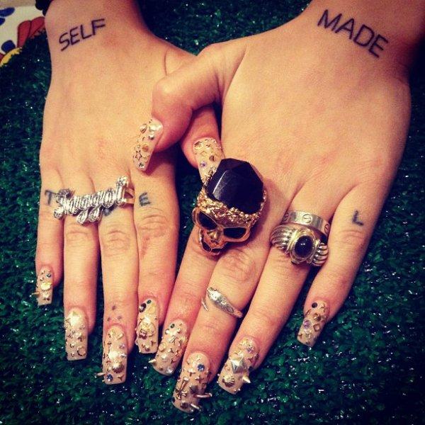 nail, finger, hand, manicure, tattoo,