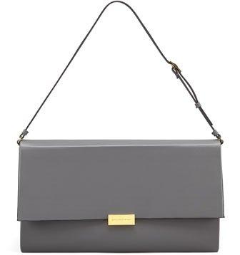 Faux-Napa Boxy Shoulder Bag