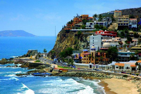 Mazatlán, coast, town, landform, geographical feature,