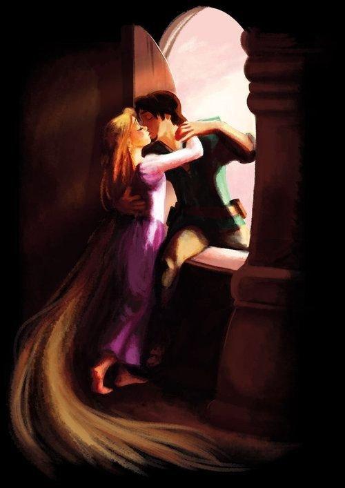 "Rapunzel and Flynn, ""Tangled"""