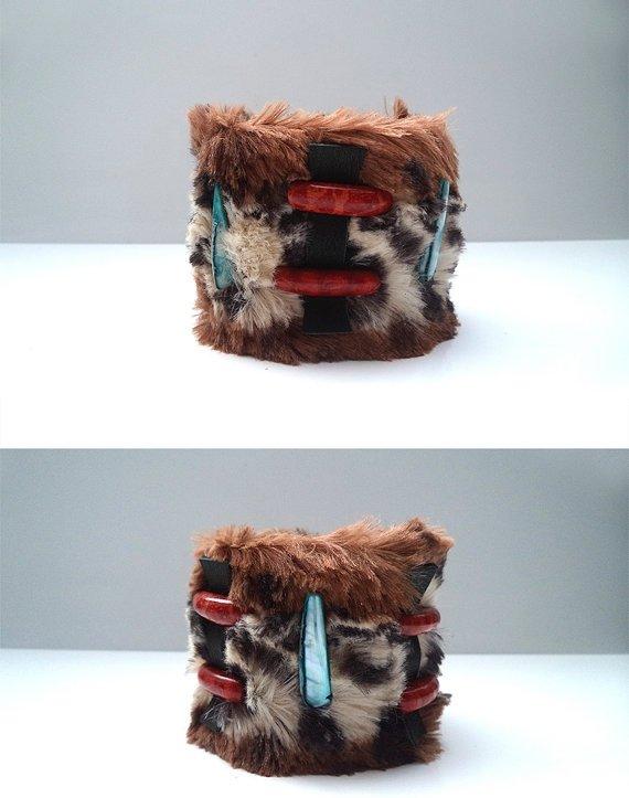 Fur Tribal Cuff