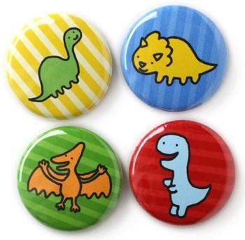 Dinosaur Pin Set