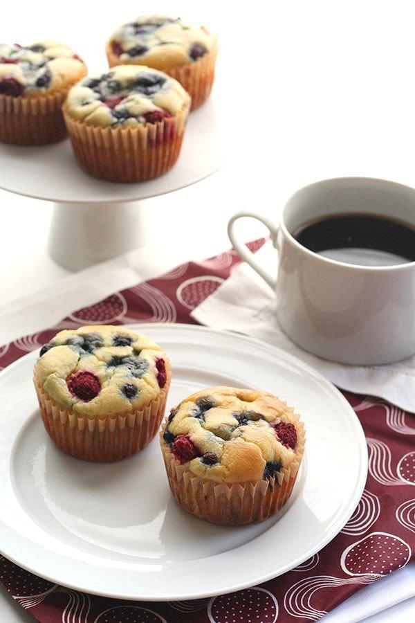 food, dessert, berry, muffin, produce,