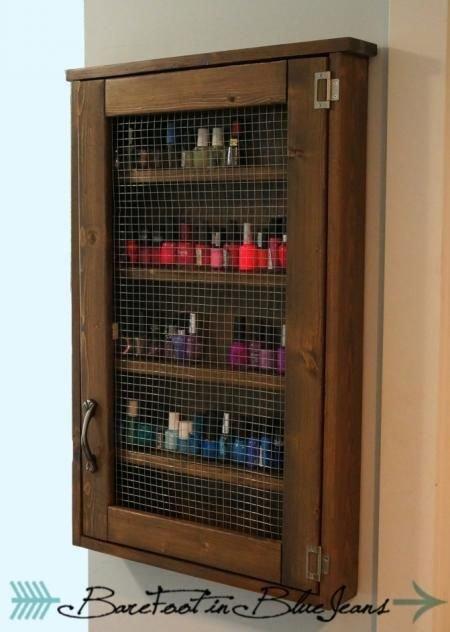 Nail Polish Cabinet DIY
