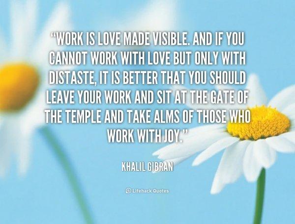 Work = Love