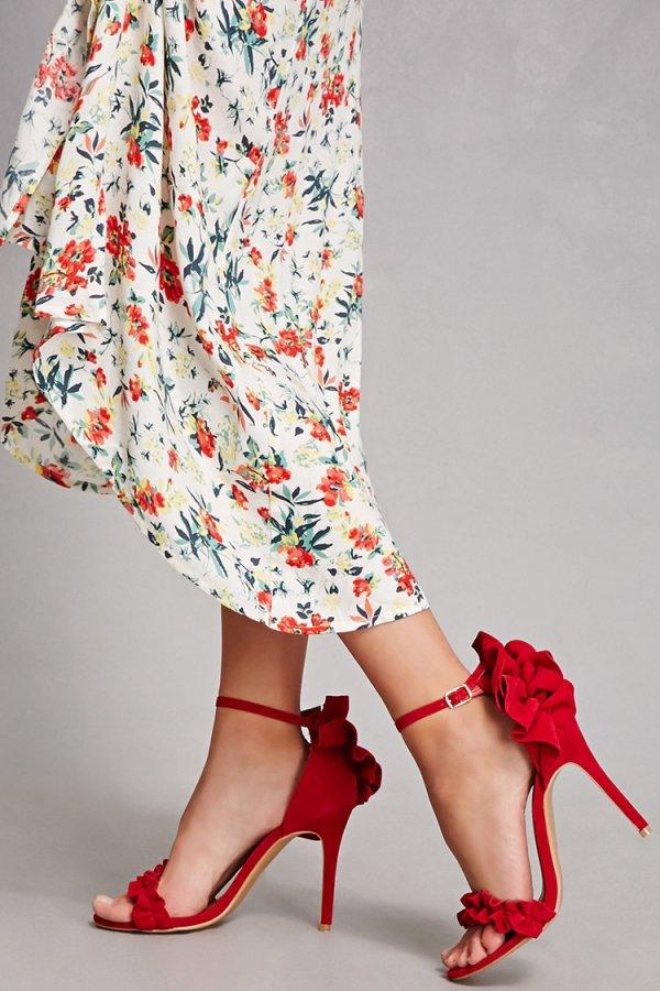 clothing, footwear, red, high heeled footwear, leg,
