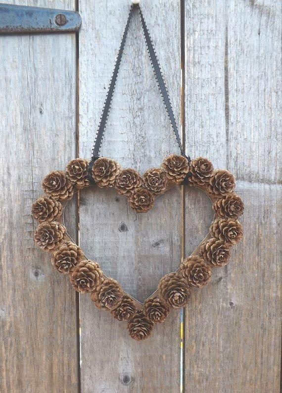 Heart Shaped Pine Cone Wreath