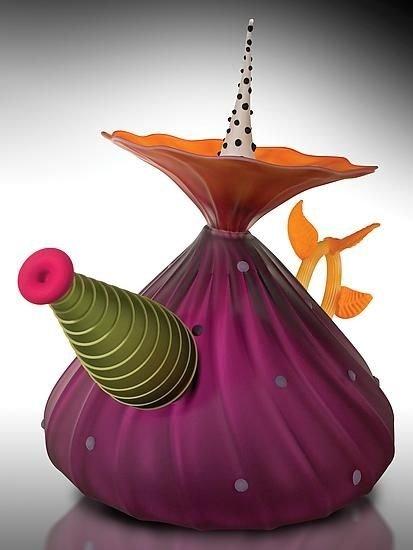 """Garden Variety Teapot"" in Hyacinth"