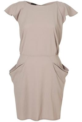 Topshop Zip Back Crepe Dress