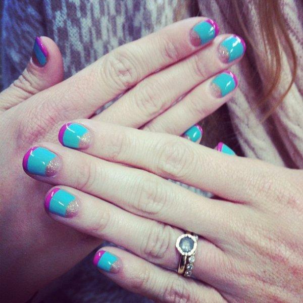 nail, manicure, turquoise, aqua, nail care,