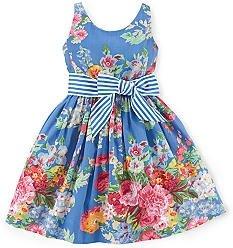 Ralph Lauren Floral Sateen Dress