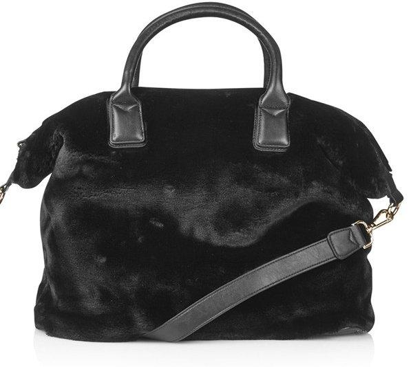 Faux Fur Carryall Bag