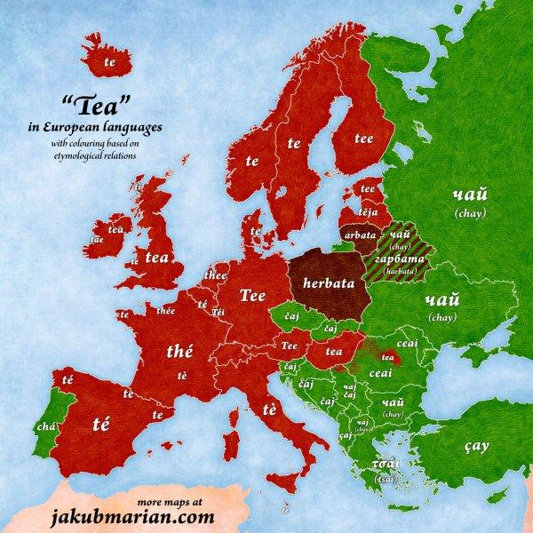 Europe, christmas, map, ter, Tea,