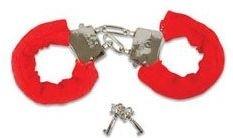 Sexy Soft Red Fuzzy Handcuffs