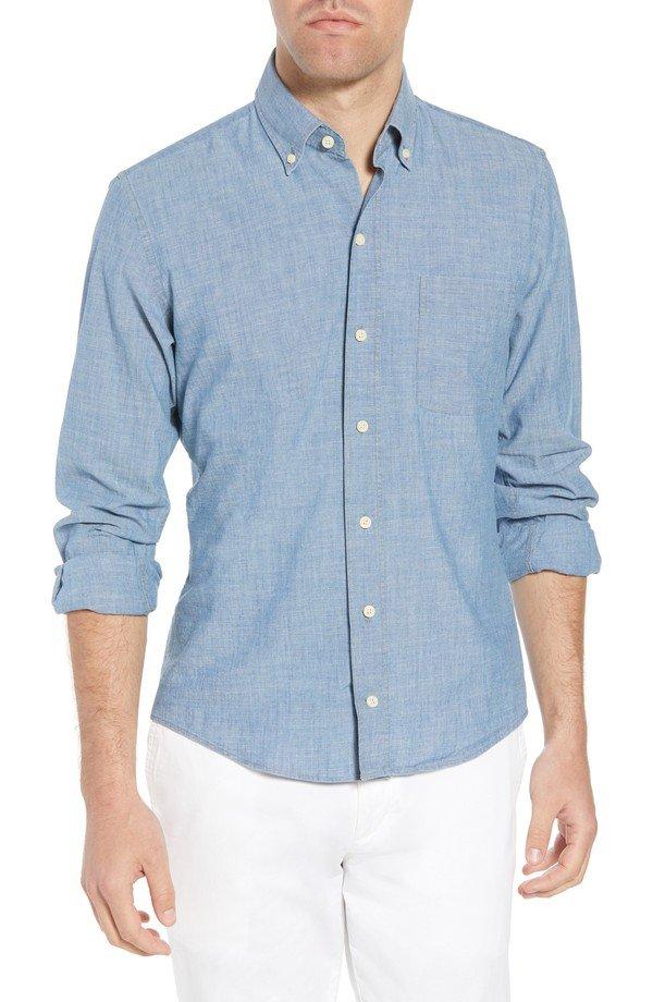 blue, sleeve, button, dress shirt, shirt,