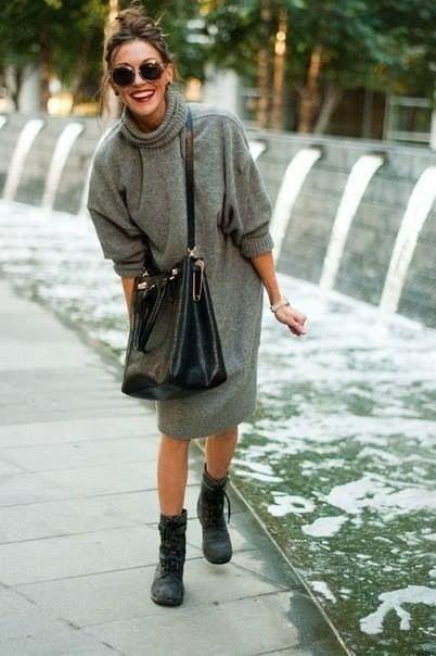 Oversize Sweater Dress