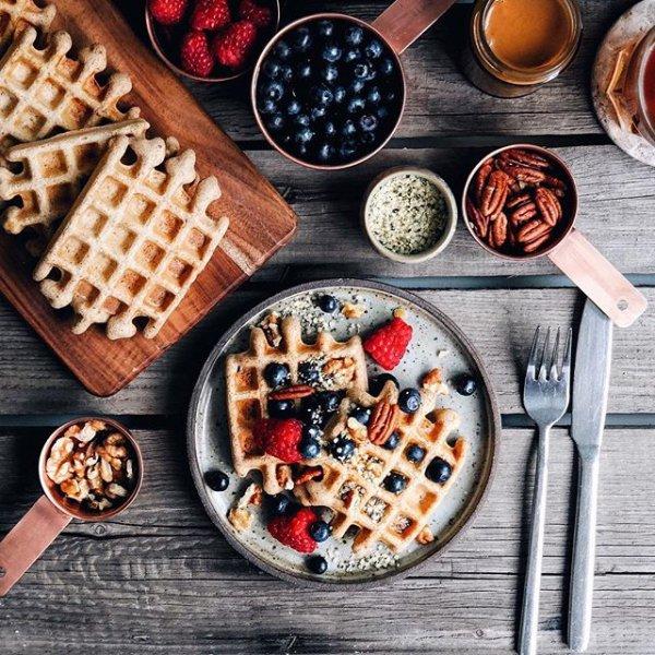 dish, meal, food, waffle, breakfast,