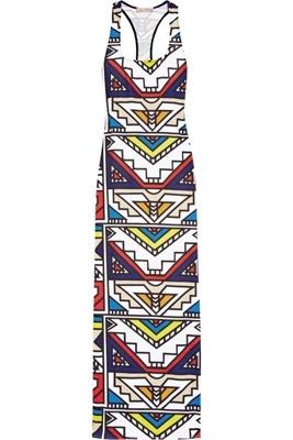 Mara Hoffman Aztec-Print Jersey Maxi Tank Dress