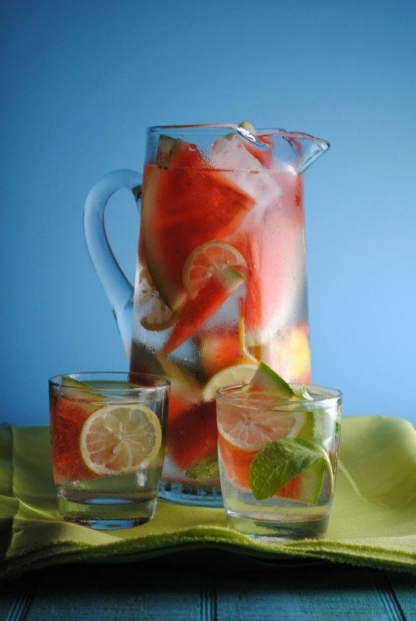 Watermelon, Mint and Lemon Water