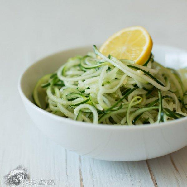 Lemon Cucumber Noodles with Cumin