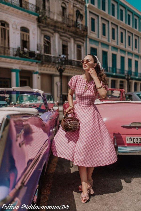 Classic, Retro style, Clothing, Vehicle, Pink,